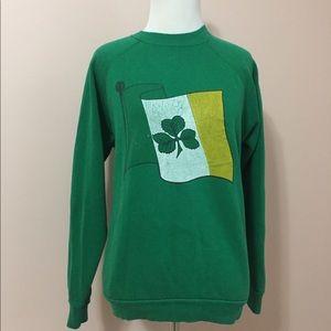 Vintage Shamrock Irish Flag Raglan Sweatshirt